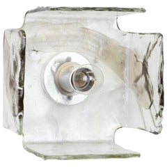 Large Glass Wall Light Designed by Carlo Nason for Kalmar, 1960s