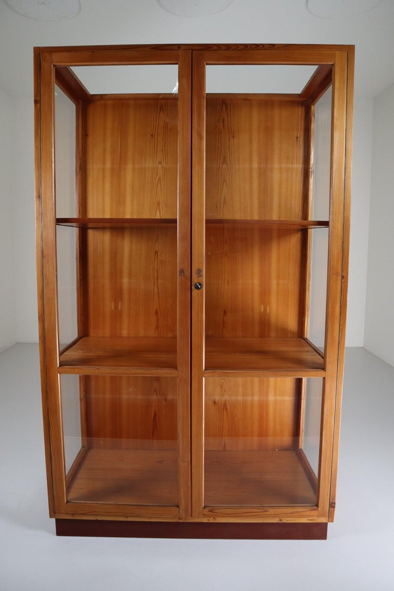 Large Glazed Display Cabinet from the National Museum in Praque 1950s In Good Condition For Sale In Almelo, NL