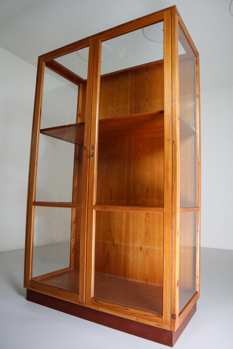 Mid-20th Century Large Glazed Display Cabinet from the National Museum in Praque 1950s For Sale
