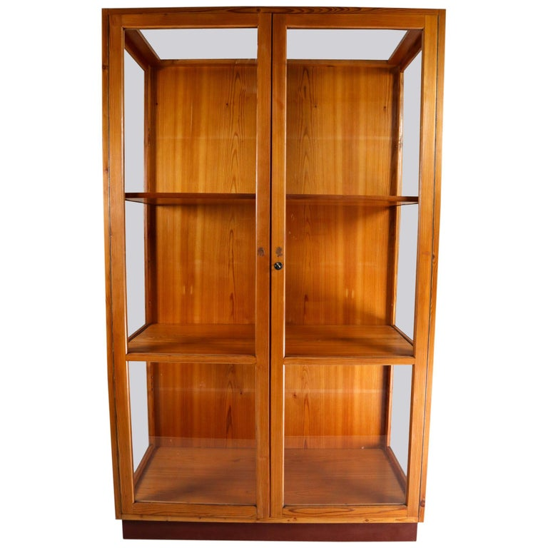 Large Glazed Display Cabinet from the National Museum in Praque 1950s For Sale