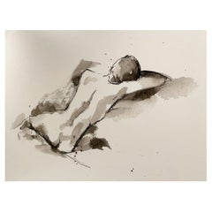 Large Gliclee of a Reclining Nude Female