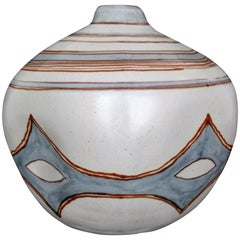 Large Glidden Pottery Sandstone Artware Vase by Fong Chow