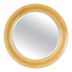 Large Goatskin Round Mirror
