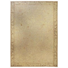 Large Gold Aubusson Rug