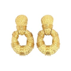 Large Gold Doorknocker Earrings