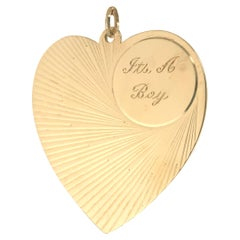 Large Gold It's A Boy Heart Charm