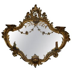 Large Giltwood Mirror in the Chinese Style, Early 20th Century