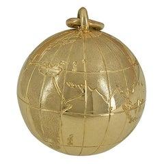 Large Gold Tiffany & Co. Globe Charm