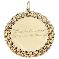 "Large Gold Tiffany & Co. ""How Do I Love Thee"" Pendant"