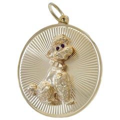 Large Gold Tiffany & Co. Poodle Charm