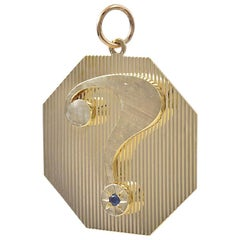 Large Gold Will You Marry Me Charm