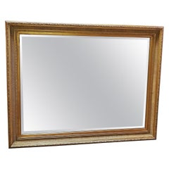 Large Golden Biedermeier Style Mirror