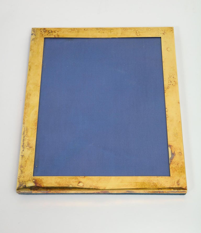 20th Century Large Gorham Black Starr & Frost Silver Gilt Photo Picture Frame For Sale