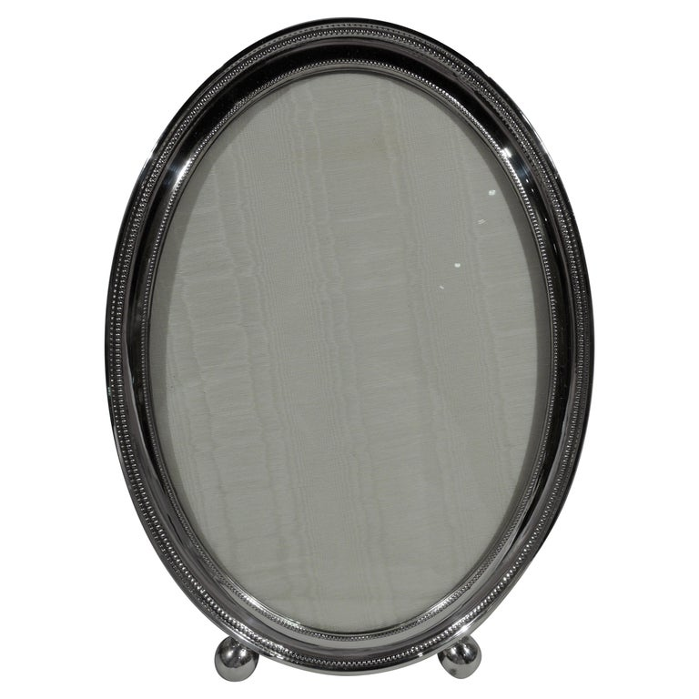 Large Gorham Oval Sterling Silver Picture Frame For Sale