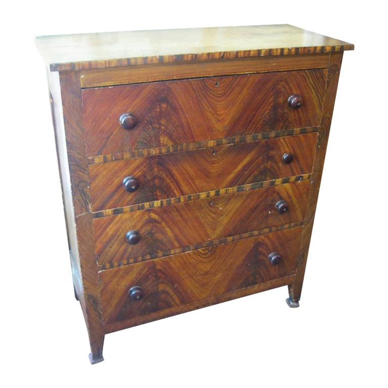 Large Grain Painted Chest of Drawers
