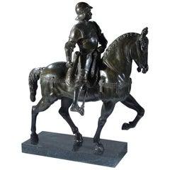 Large Grand Tour Bronze Model of the Colleoni Monument by Verrochi
