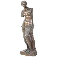 """Large Grand Tour Bronze Sculpture of the """"Venus De Milo"""""""