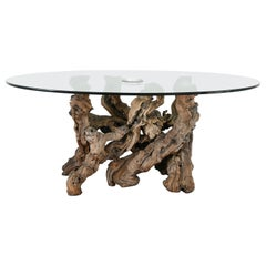 Large Grapevine-Driftwood Dining Table, 1970s