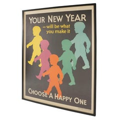 "Large Graphic 1929 ""New Year"" Poster"