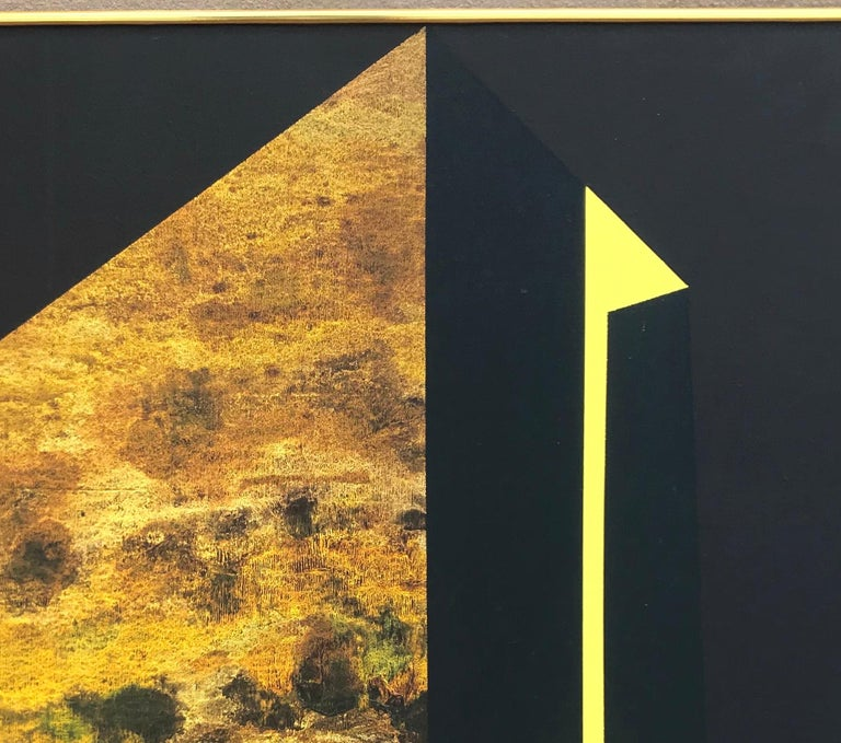 """Wonderful large abstract painting by important Washington Color School artist James Twitty (1916-1994). This piece is entitled """"Benchmark IV"""" and was originally sold through the noted Washington DC Osuna Gallery, as evidenced by the gallery label on"""