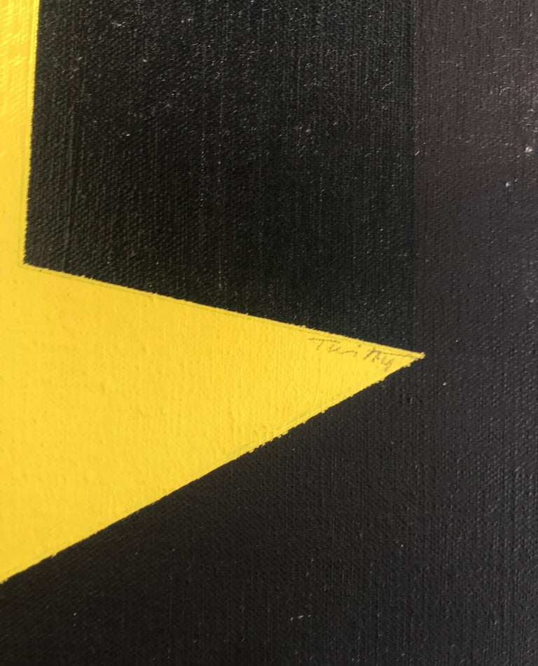 Large Graphic James Twitty Modernist Abstract Painting, 1971 In Excellent Condition For Sale In Washington, DC