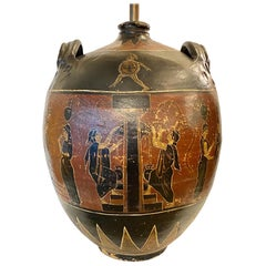 Large Greek Amphora Table Lamp