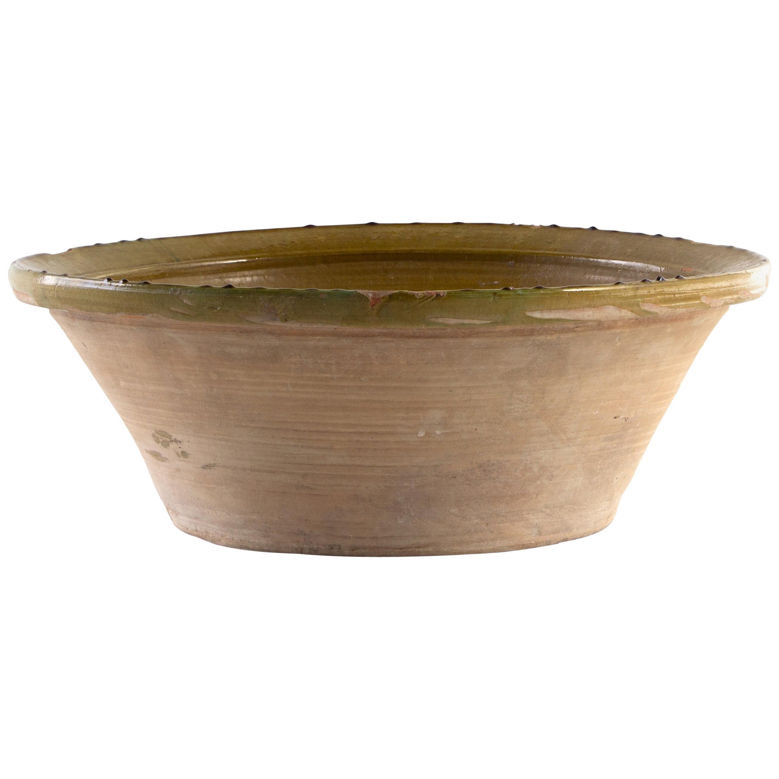 Large Green Ceramic Bowl