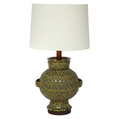 Large Green Ceramic Lamp