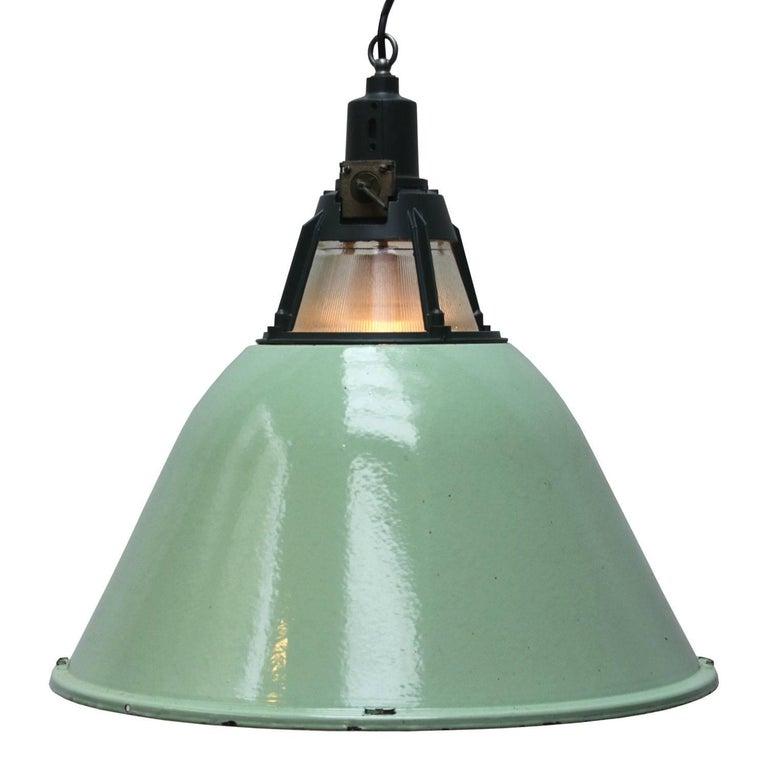 green glass pendant lighting. Busk Large Green Glass. Enamel Industrial Pendant. Shade. White Inside. Glass Pendant Lighting