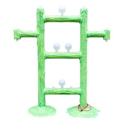 Large Green Expandable Foam Floor Lamp by Joseph Algieri