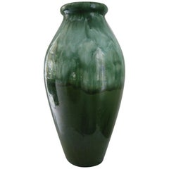 Large Green Glazed Earthenware Vase