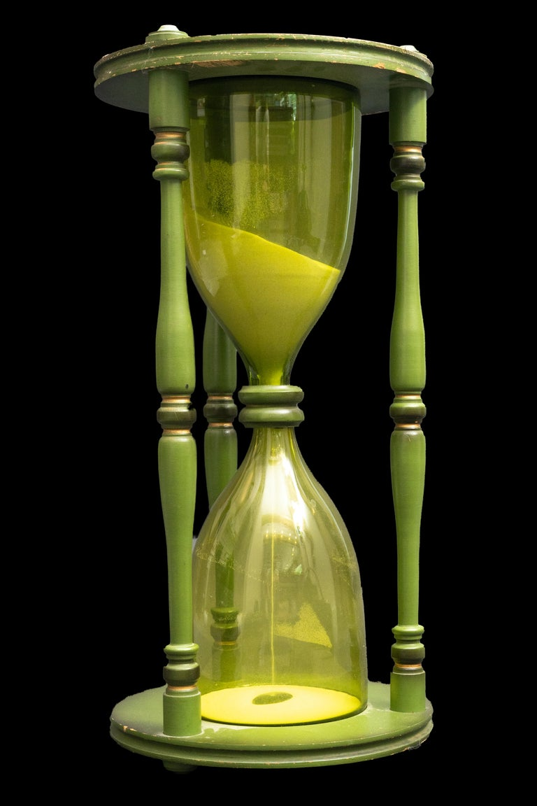 Large green hourglass  Measures 11.5
