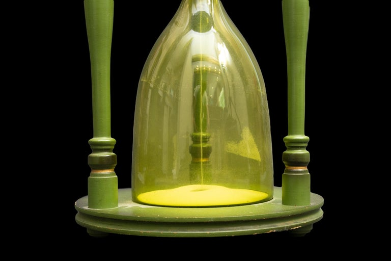 19th Century Large Green Hourglass For Sale