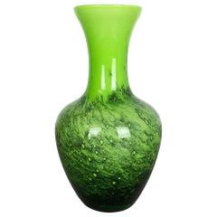 Large Green Vintage Pop Art Opaline Florence Vase Design, Italy No. 2