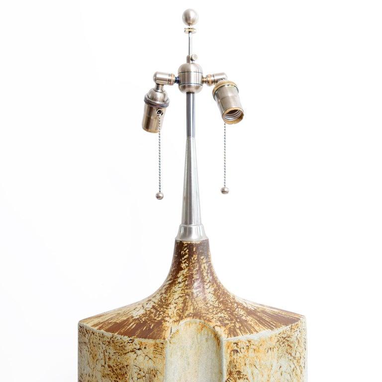 Scandinavian Modern Large Haico Nitzsche Designed Ceramic Lamp for Søholm Pottery, Bornholm, Denmark For Sale