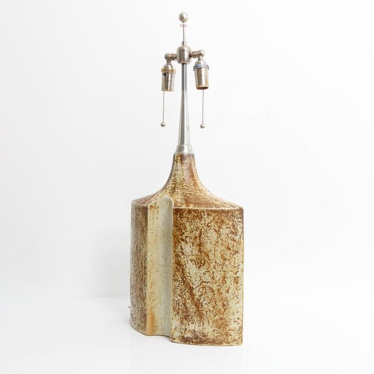 Scandinavian Large Haico Nitzsche Designed Ceramic Lamp for Søholm Pottery, Bornholm, Denmark For Sale