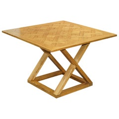 Large Halo Pegged Oak High Bar Table to Seat 8-12 People with Ease