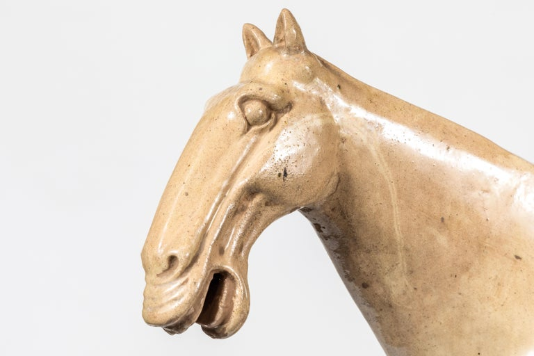 Chinese Large, Han-Style Horse Sculpture For Sale