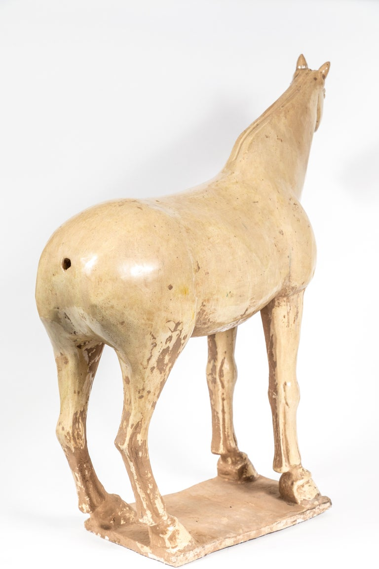 Large, Han-Style Horse Sculpture For Sale 1
