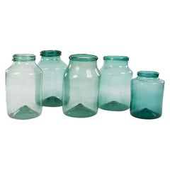 Large Hand Blown Antique Glass Jars