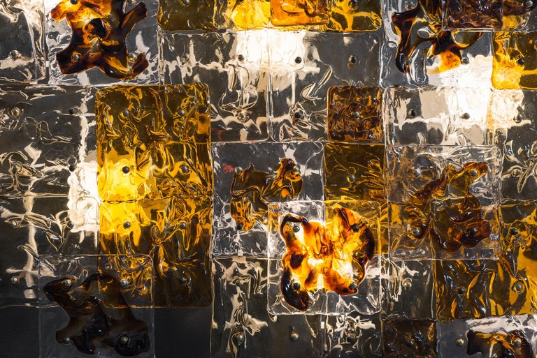 Other Large Hand-Blown Glass Patchwork Wall Sconce by Toni Zuccheri for Venini, 1970s For Sale