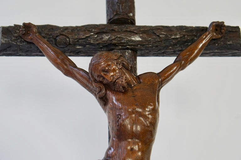 Large Hand Carved, Late 19th Century Corpus of Christ or Crucifix In Good Condition For Sale In Antwerp, BE