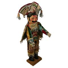 Large Hand Carved Mexican General Folk Art Sculpture