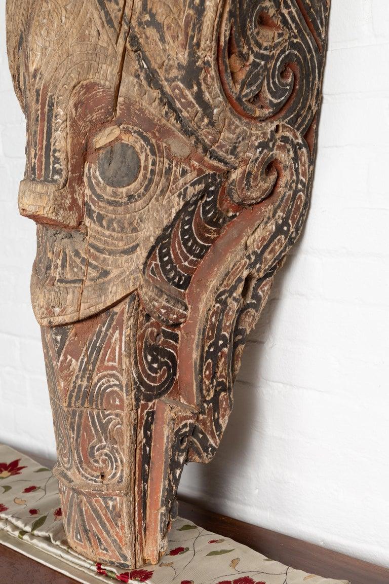 Large Hand Carved Singa Singa Tribal Carving from the Batak People, Sumatra For Sale 3