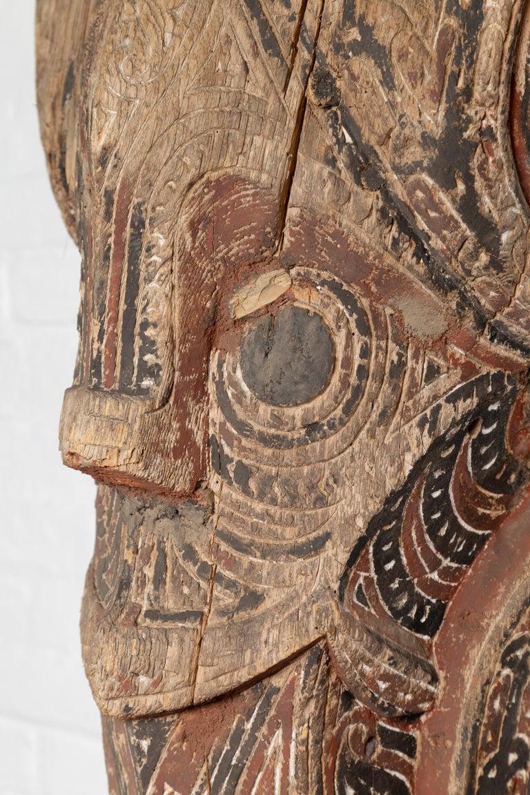 Large Hand Carved Singa Singa Tribal Carving from the Batak People, Sumatra For Sale 4