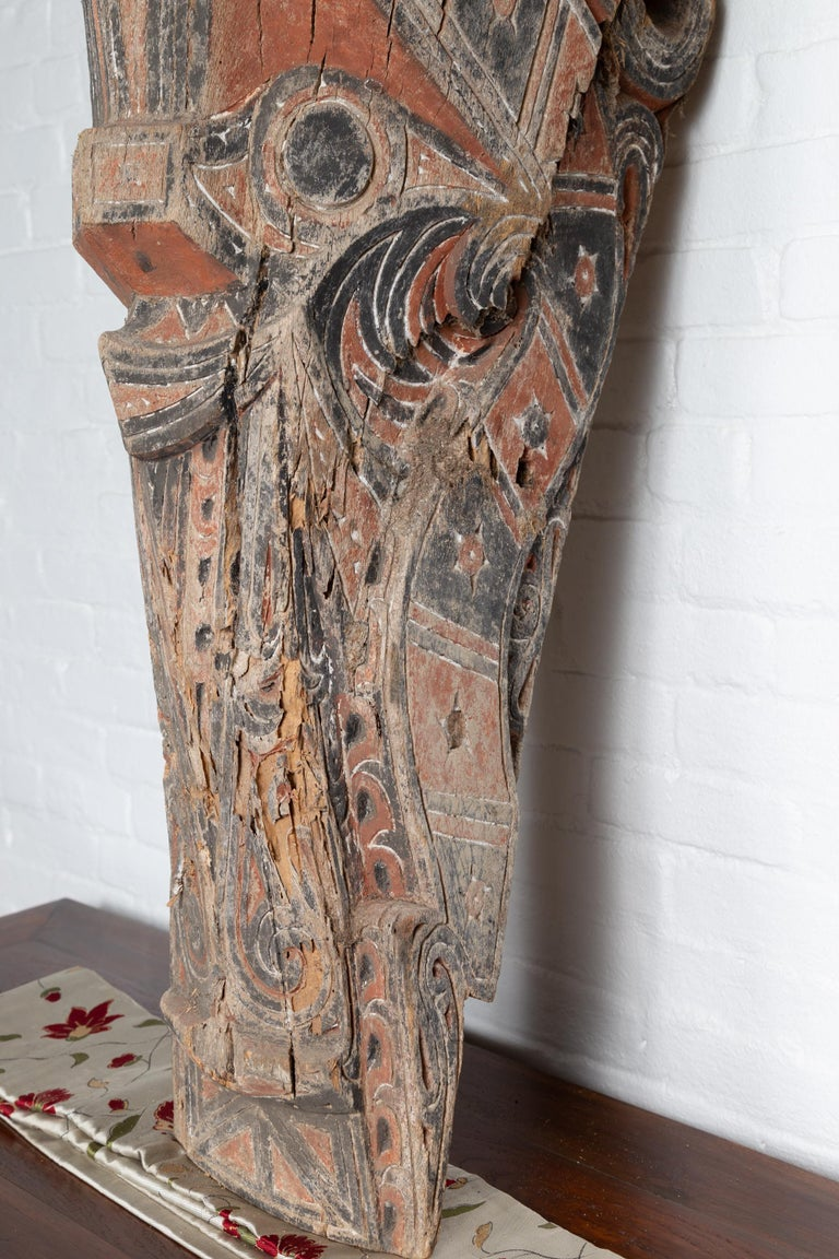 Large Hand Carved Singa Singa Tribal Carving from the Batak People, Sumatra For Sale 4