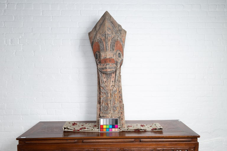 Large Hand Carved Singa Singa Tribal Carving from the Batak People, Sumatra For Sale 6
