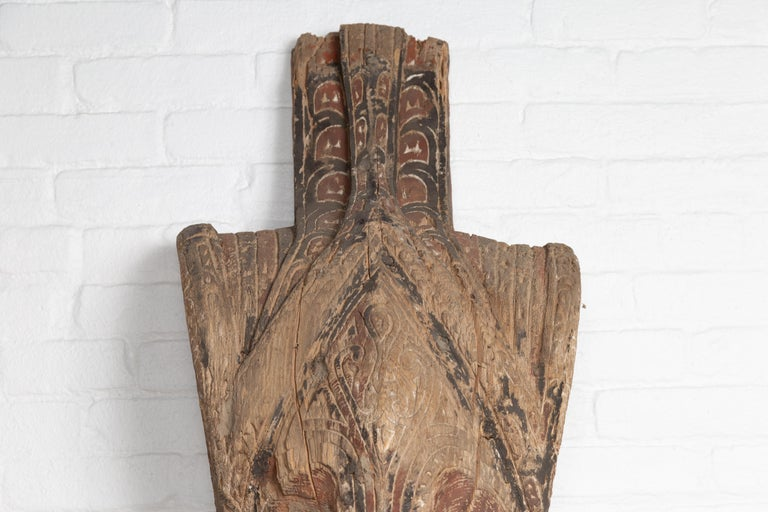 Hand-Carved Large Hand Carved Singa Singa Tribal Carving from the Batak People, Sumatra For Sale