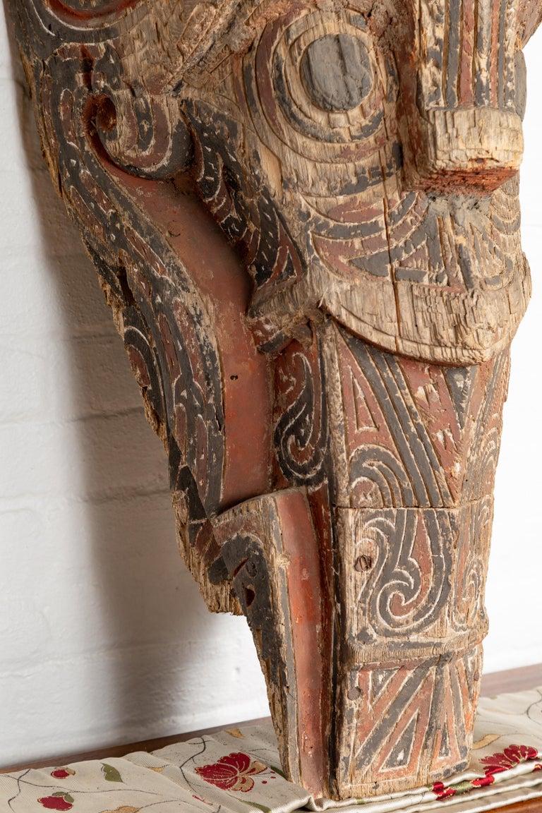 Large Hand Carved Singa Singa Tribal Carving from the Batak People, Sumatra For Sale 1
