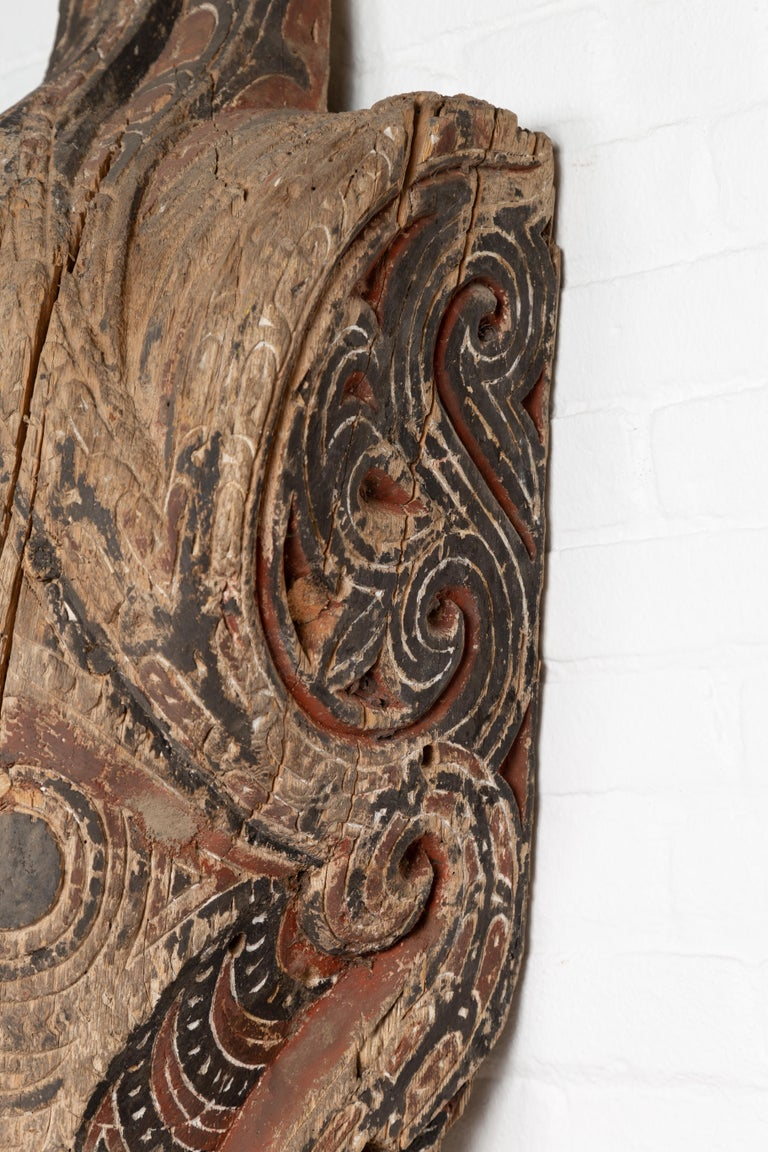 Large Hand Carved Singa Singa Tribal Carving from the Batak People, Sumatra For Sale 2